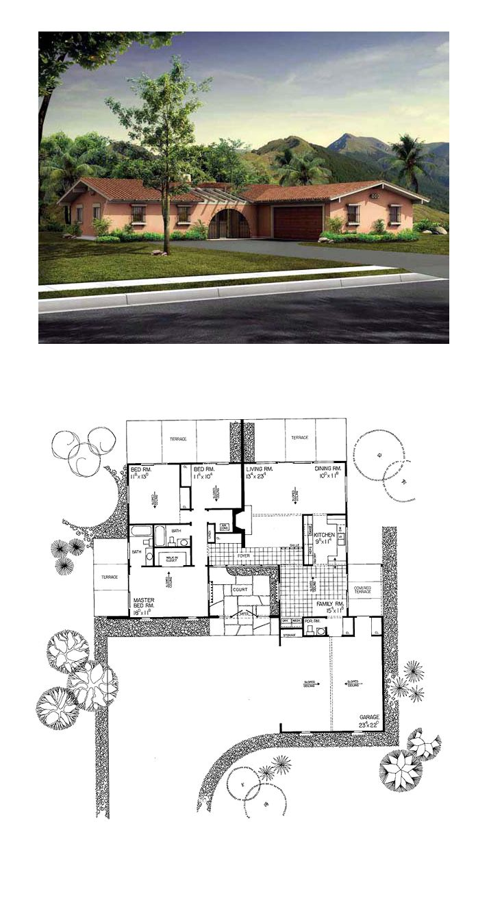 Prairie House Plan 90222 | Total Living Area: 1695 Sq. Ft., 3