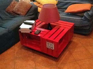 Un tavolino di design dalle cassette della frutta