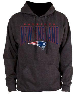 Authentic Nfl Apparel Men's New England Patriots Defensive Line Hoodie - Black XXL