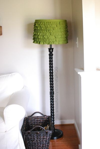 DIY lamp shade. Pretty, but I can see it in red and maybe a little fuller.