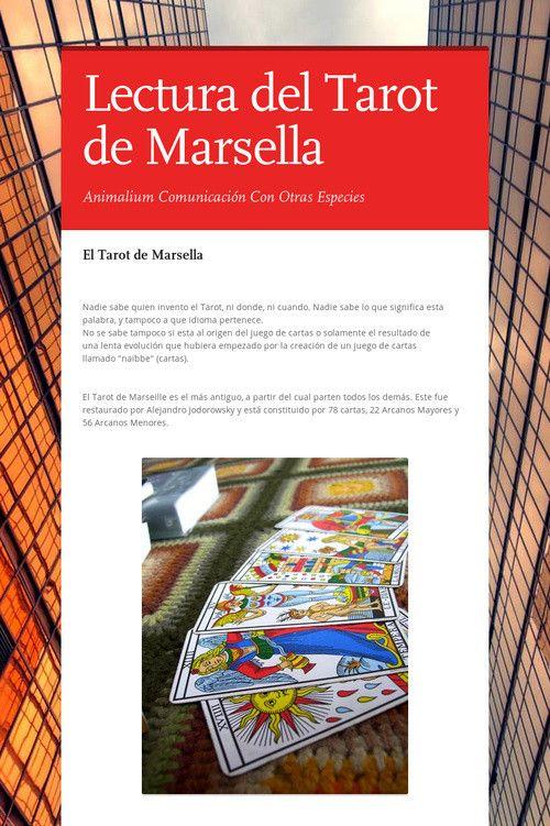 Lectura del Tarot de Marsella