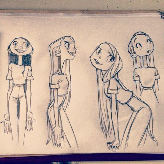 Всяческие разные вампирки  #sketching #vampire #girls