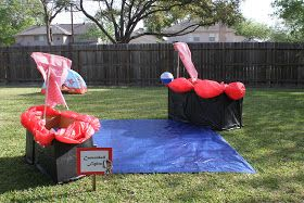 Cannon ball fight... Drinking game? Lots of great kids games and ideas for afternoon activities