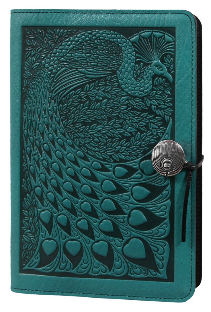Leather Journal Cover | Diary | Peacock | Oberon Design