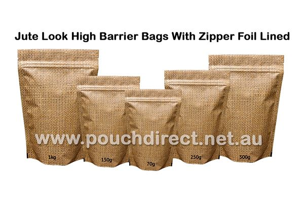 Our superior quality jute look high barrier bags are widely appreciated for their classy appearance, ideal perfect craft works and excellent tear strength.