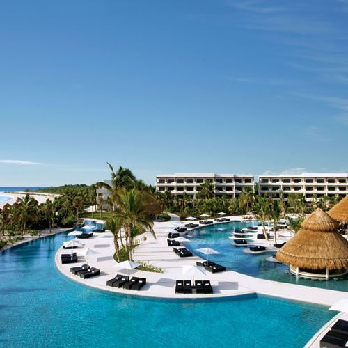 """Previous pinner says """"My most favorite resort ever. Secrets Maroma in Riviera Maya, Mexico. I am so ready to go back there.  BEST restaurants EVER!  Great entertainment also!"""""""