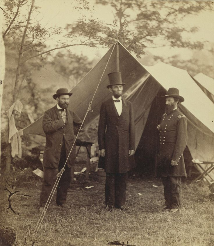 President Lincoln, United States Headquarters, Army of the Potomac, near Antietam, October 4, 1862,  Alexander Gardner. The J. Paul Getty Museum
