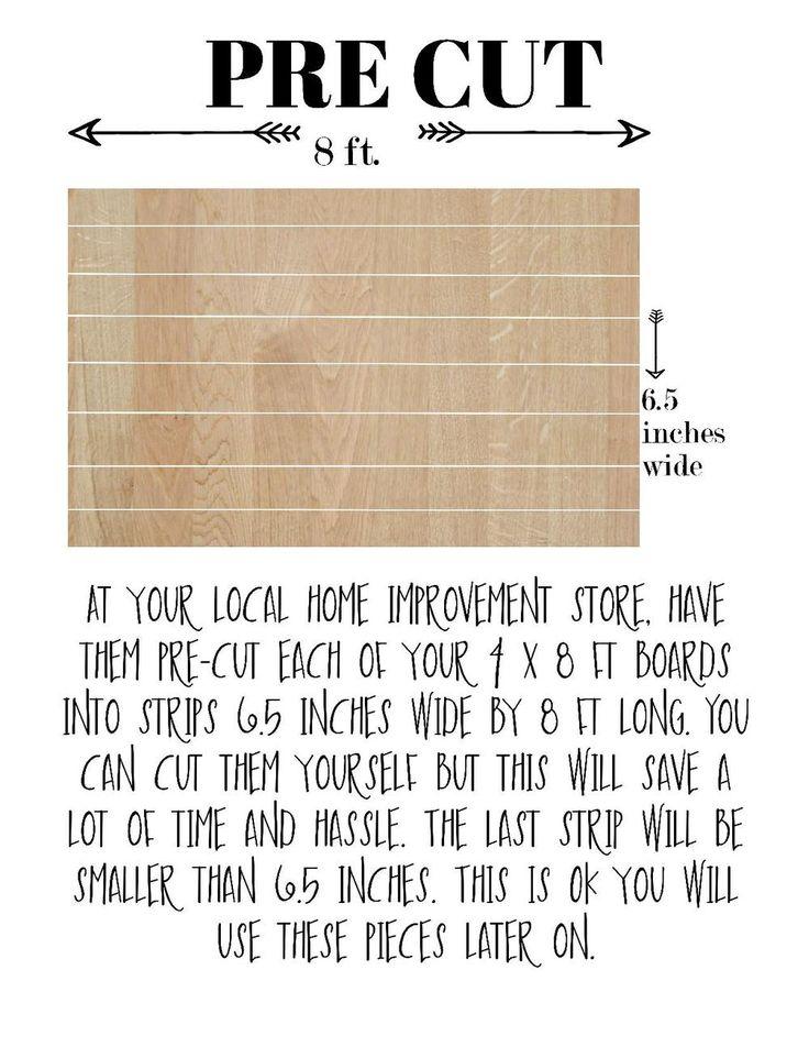 DIY shiplap plank wall tutorial