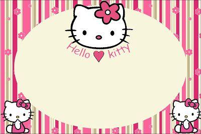 Cumpleaños 3 // Hello Kitty – Kit Completo com molduras para convites, rótulos para guloseimas, lembrancinhas e imagens! |Fazendo a Nossa Festa