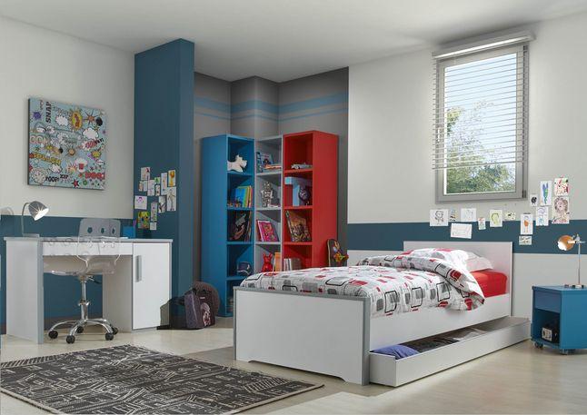 De 3-delige kamer Babel laat met zijn strakke ontwerp nog veel ruimte om een persoonlijke toets te geven en je slaapkamer samen met jou te laten evolueren. #Slaapkamer #Bed #Bureau #Kleerkast #Collishop