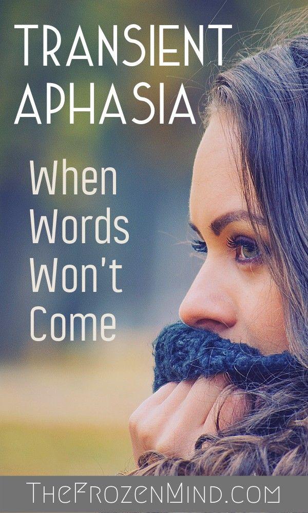 Migraine Explained: Transient Aphasia | Stroke survivor