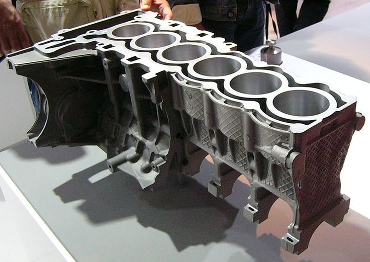 An engine block with #aluminium and magnesium #diecastings.