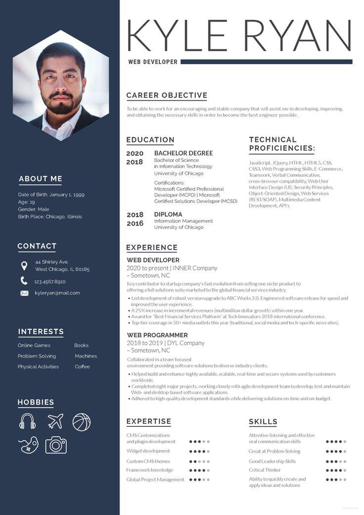 Free Web Developer Resume (With images) Web developer