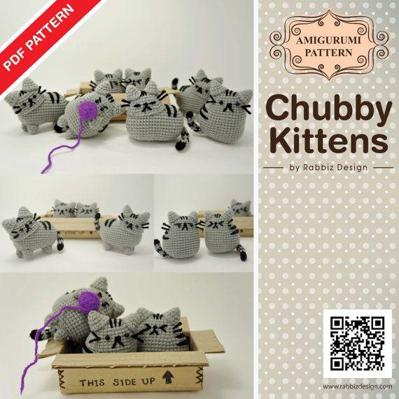 Pusheen Amigurumi Patron : Pusheen! PDF Pattern Amigurumi Chubby Kittens by ...