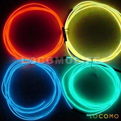 3M Car Interior Cold Light Flexible EL Neon Wire Music Sensor