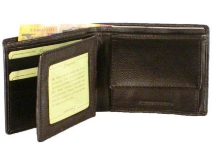 GENTS WALLET WITH COIN PURSE CARD SPACE & BANK NOTE COMPARTMENT