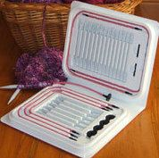 NobleKnits.com - PINK Denise Interchangeable Knitting Needle Kit, $59.99 (http://www.nobleknits.com/pink-denise-interchangeable-knitting-needle-kit/)