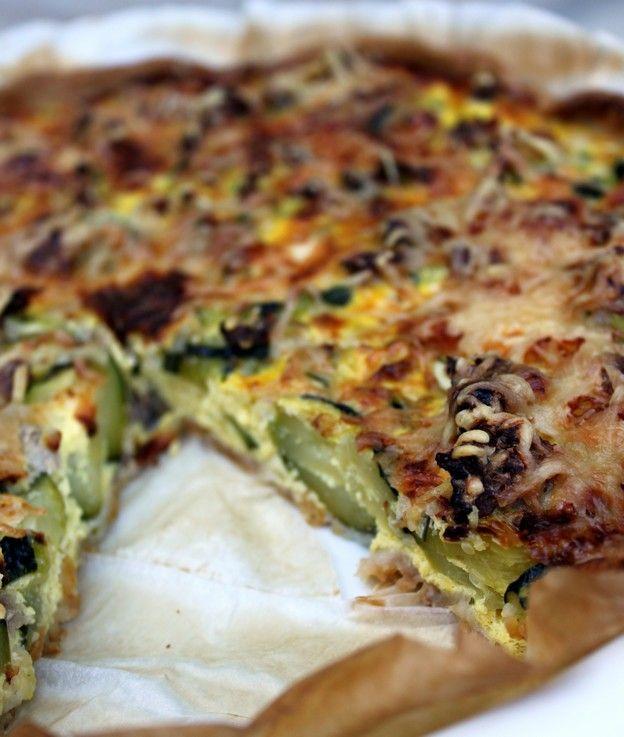tarte courgettes thon