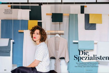 Marta Marin, the founder of Shuj, in a cover story for Myself Germany - November 2016