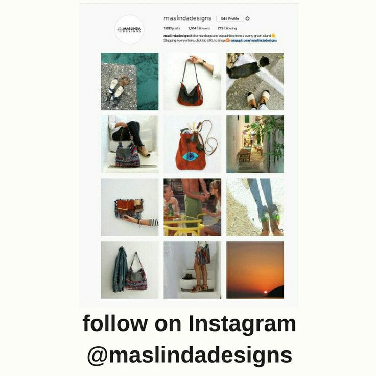 Follow @maslindadesigns on Instagram for news, inspiration and special deals!