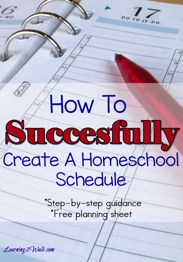 Looking for homeschool ideas on how to Create A successful homeschool schedule? Use this step by step planning sheet that covers how long each lesson should last to the subjects you want to teach