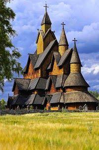 Heddal stave church, Notodden municipality, Norway...
