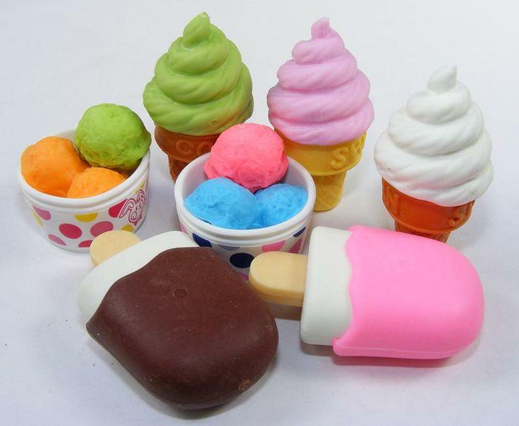 Back to School ice cream erasers