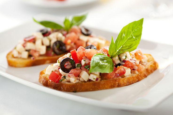 Recette healthy : Bruschetta tomate-mozzarella