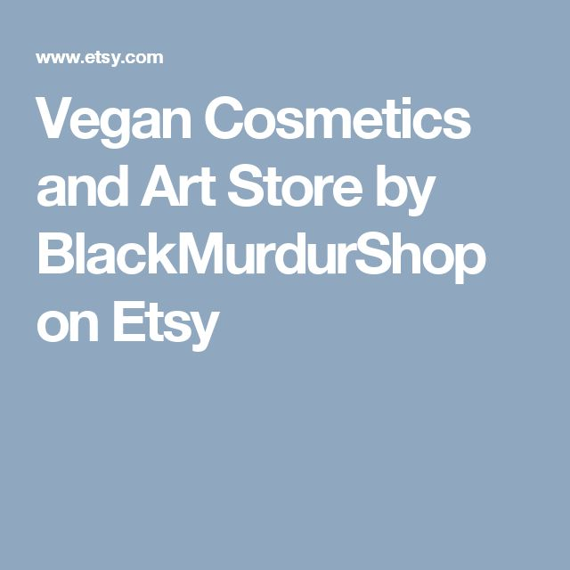 Vegan Cosmetics and Art Store by BlackMurdurShop on Etsy
