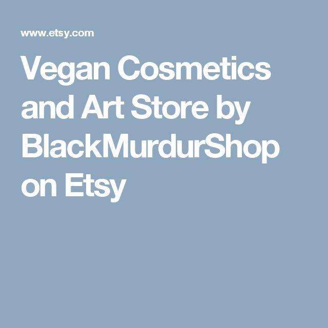 Vegan Cosmetics and Art Store by BlackMurdurShop on Etsy