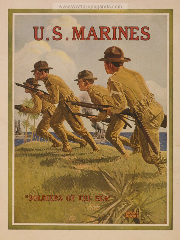 Examples of Propaganda from WW1 | WW1 Marine Posters Page 16