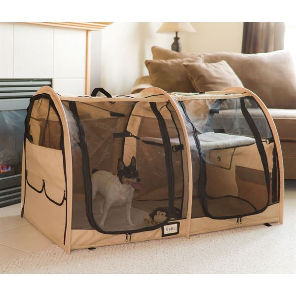 Portable dog kennels for the pet and pet owner on the go!