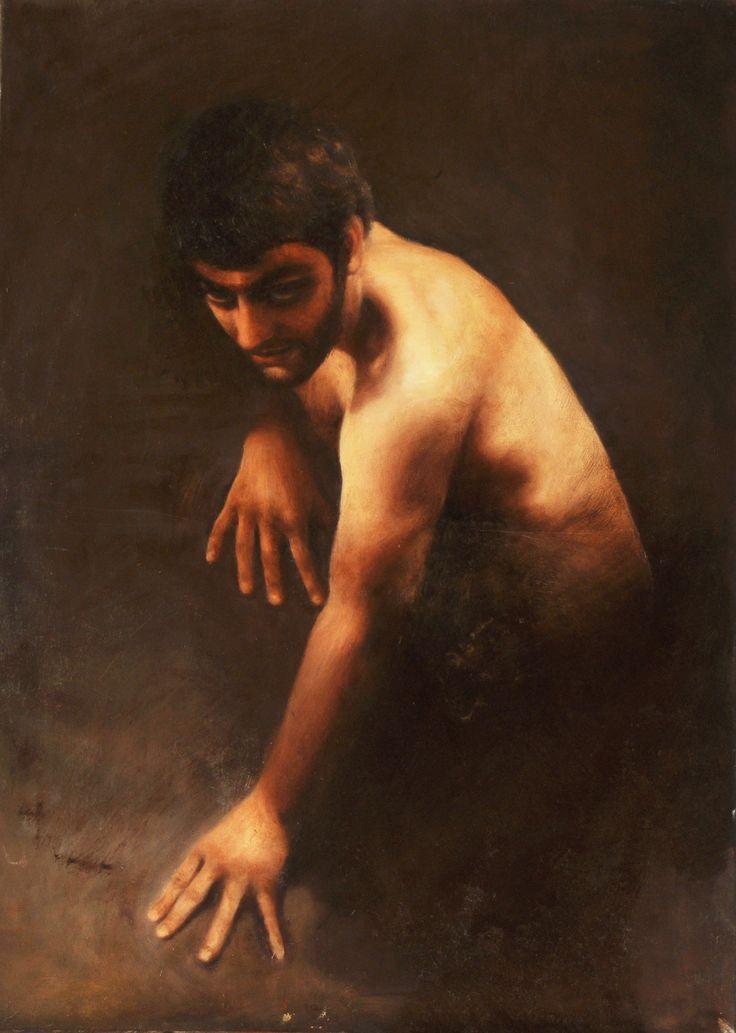 """Andrea Esposito, """"Fauno"""", olio su tela, 70x50cm, 2008"""