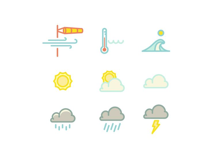 Surf Weather Icons