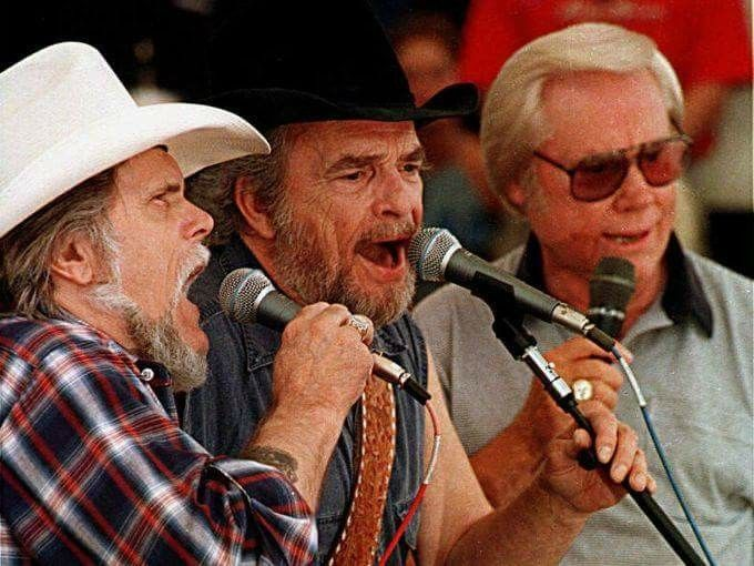 Johnny Paycheck, Merle Haggard and George Jones