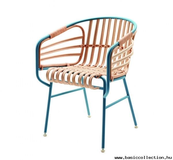 Basic Collection, Raphia  #raphia #design #furniture #outdoor #armchair #metal #rattan #blue
