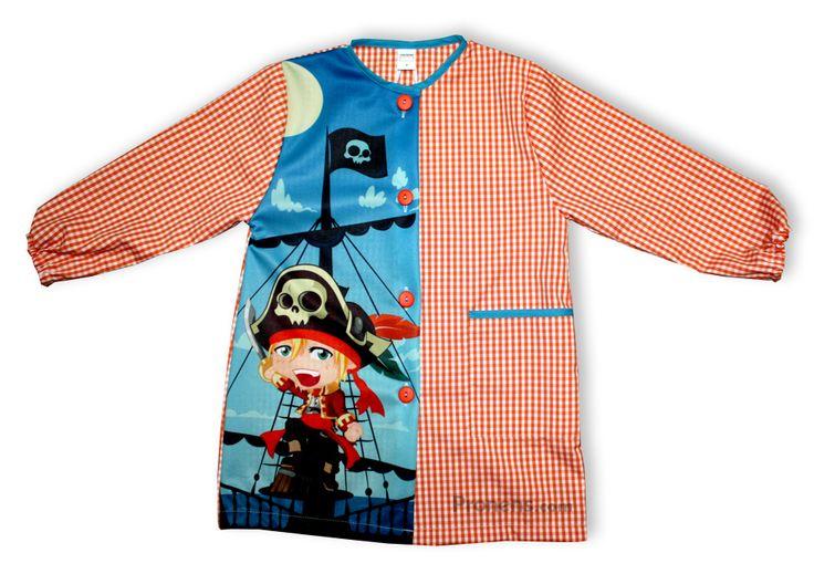 Batas babis escolares de piratas y divertidos - Babis escolares originales Pronens | Tienda Pronens