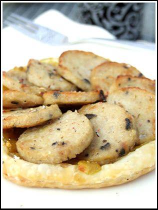 Tarte fine au boudin blanc et au chutney de pommes parfumé au curry - Cuisine Campagne