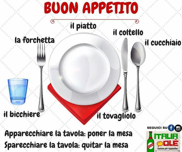 Cutlery in italian