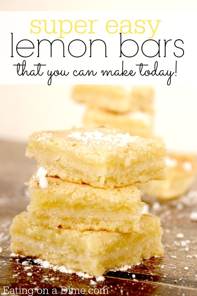 Try this Easy Lemon Bars Recipe. They are perfect for the holidays or during summer. Either way your family enjoy this dessert!