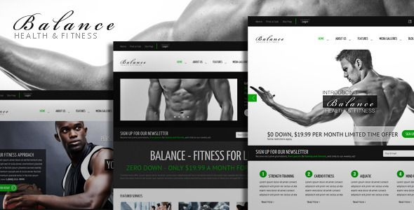 Balance - Gym Fitness HTML Theme . If you would like the WordPress version of this theme  Click