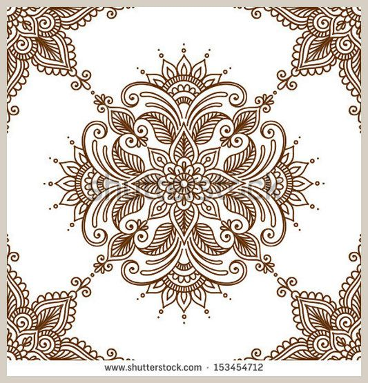 Floral background with decorative ornament in indian style Seamless pattern for your design wallpapers, pattern fills, web page backgrounds,...