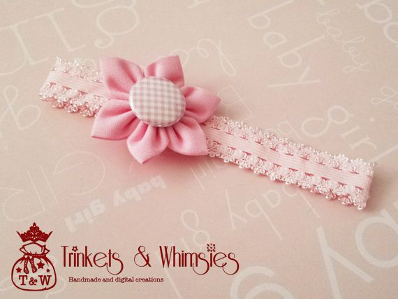 Pink Spritz Baby Headband by TrinketsAndWhimsies on Etsy, $6.00
