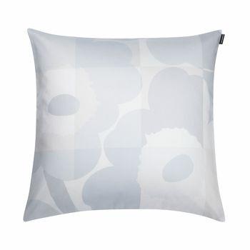 marimekko ruutuunikko whitegrey throw pillow - Marimekko Bedding