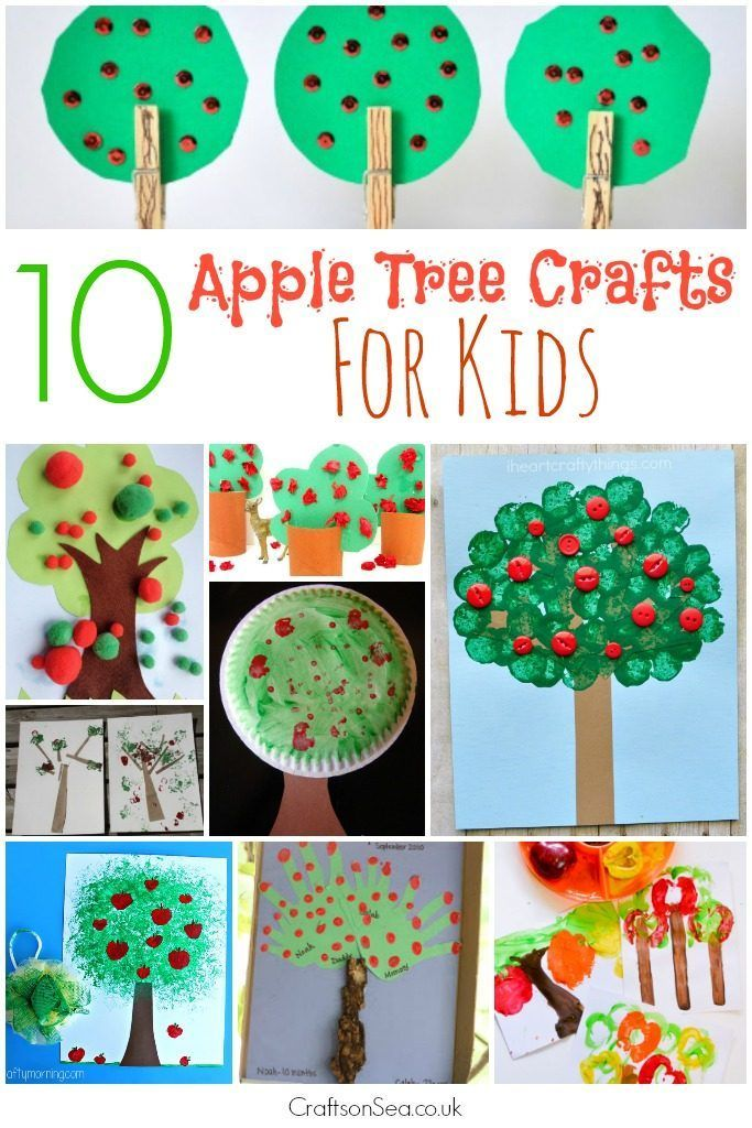 10 fabulous apple tree crafts for kids, loads of fun ideas to help celebrate autumn or harvest festival with cheap materials but super pretty results!
