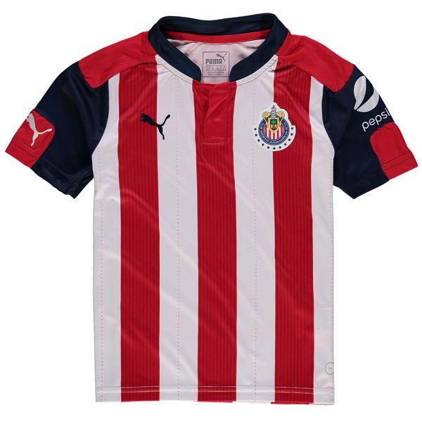 Chivas Puma Youth 2016/17 Home Replica Shirt - Red/Navy - $69.99