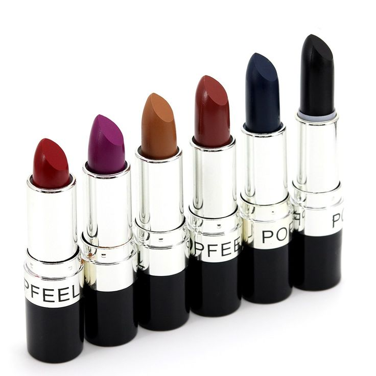 Pro brand 6 Color Matte Lipstick Vampire Style Makeup Purple Black red lipstick makeup waterproof lip stick cosmetic batom KH-3#