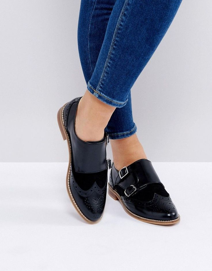 Counter Genuine buy new series Asos Monk Shoes In Black Leather With Buckle Outlet Online