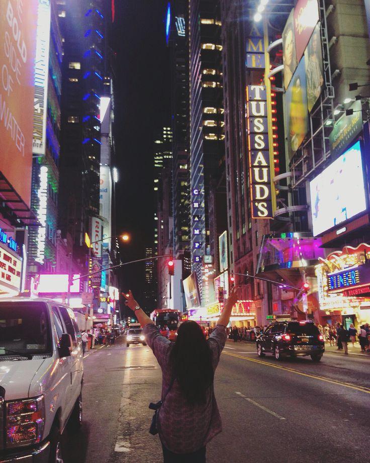 Mum standing in Times Square, New York. 2014. #nyc #timessquare #concretejungle #newyork