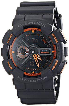 Casio Men's GA-110TS-1A4 G-Shock Analog-Digital Watch With Grey Resin Band: Casio: Watches